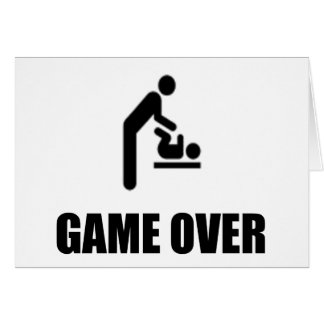 Game Over Funny Father's Day Greeting Card