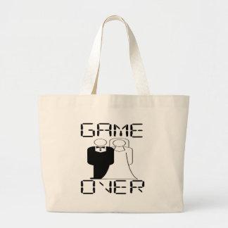 GAME OVER Funny Wedding Design Jumbo Tote Bag