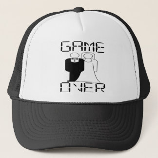 GAME OVER Funny Wedding Design Trucker Hat