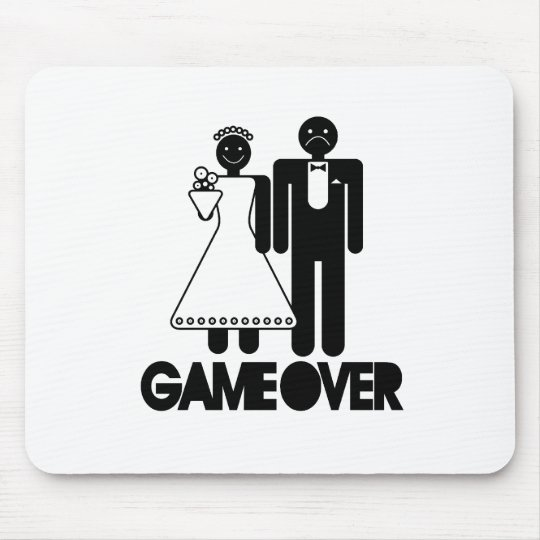 Joke Wedding Gifts: Game Over - Funny Wedding Gifts Mouse Mat