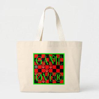 game over jumbo tote bag