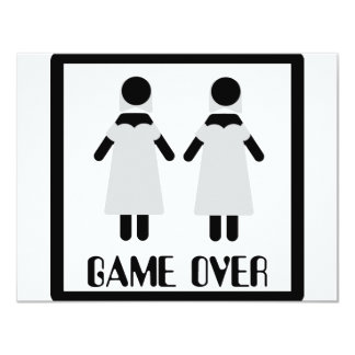 game over lesbian couple icon card