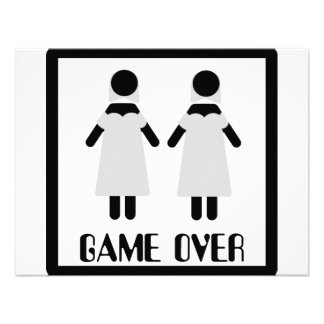game over lesbian couple icon custom announcement