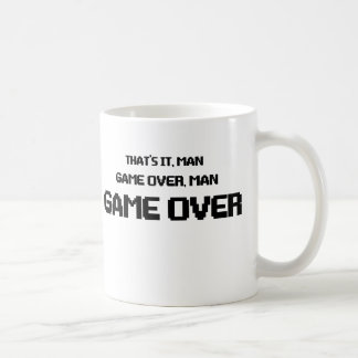 GAME OVER MAN COFFEE MUG
