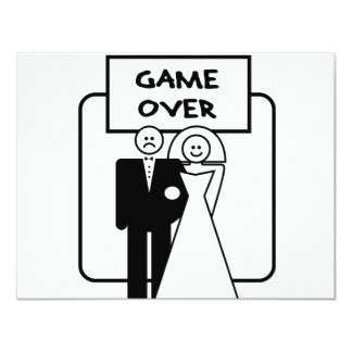 """Game Over"" marriage 11 Cm X 14 Cm Invitation Card"