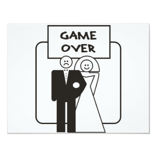 Game Over Marriage 11 Cm X 14 Cm Invitation Card