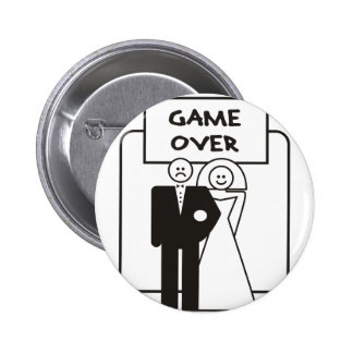 Game Over Marriage 6 Cm Round Badge