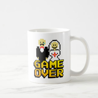 Game over marriage (8-bit) classic white coffee mug