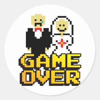 Game over marriage (8-bit) round sticker
