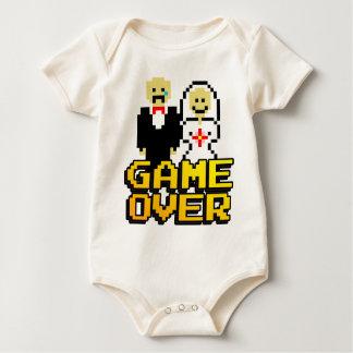 Game over marriage (8-bit) baby bodysuit