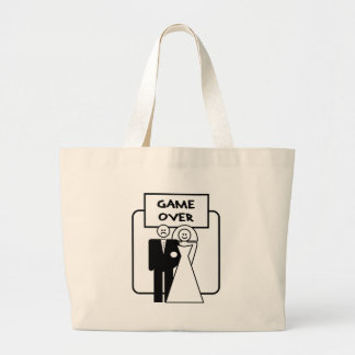 """Game Over"" marriage Canvas Bag"