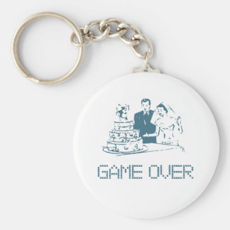 Game Over (Marriage) Basic Round Button Key Ring