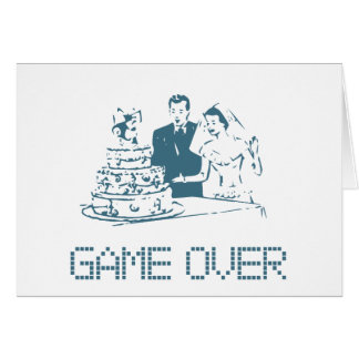 Game Over (Marriage) Greeting Card