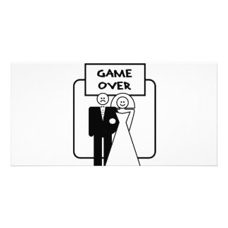 """""""Game Over"""" marriage Customised Photo Card"""