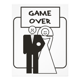 Game Over Marriage Flyer