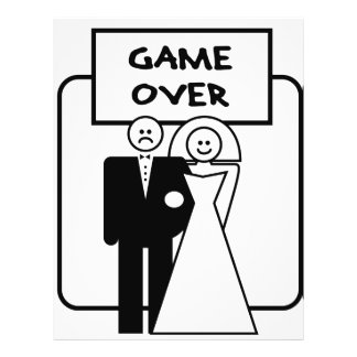 """Game Over"" marriage Custom Flyer"