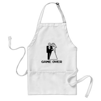 Game Over Marriage Game Over Funny tshirt Adult Apron