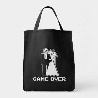 Game Over Marriage Game Over Funny tshirt Tote Bags