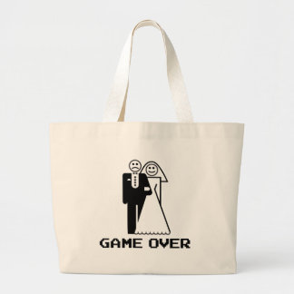 Game Over Marriage Game Over Funny tshirt Jumbo Tote Bag