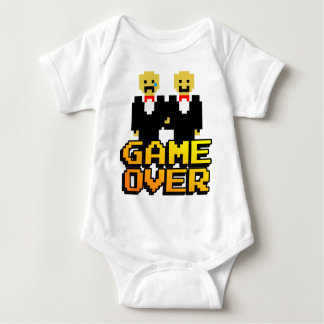 """Game Over"" Marriage (Gay, 8-bit) Baby Bodysuit"