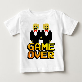 """Game Over"" Marriage (Gay, 8-bit) Baby T-Shirt"