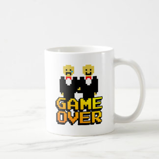 """Game Over"" Marriage (Gay, 8-bit) Basic White Mug"