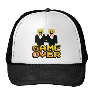 """Game Over"" Marriage (Gay, 8-bit) Trucker Hats"
