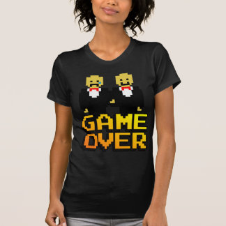 """""""Game Over"""" Marriage (Gay, 8-bit) T-Shirt"""