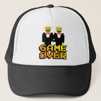 """Game Over"" Marriage (Gay, 8-bit) Trucker Hat"