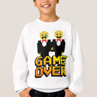 """""""Game Over"""" Marriage (Gay, 8-bit) Tshirts"""