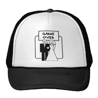 """""""Game Over"""" marriage Trucker Hats"""