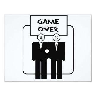 """Game Over"" Marriage (Homosexual) 11 Cm X 14 Cm Invitation Card"