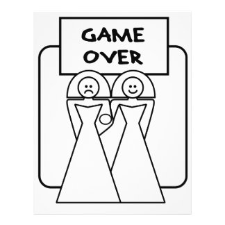 """""""Game Over"""" Marriage (Homosexual) 21.5 Cm X 28 Cm Flyer"""