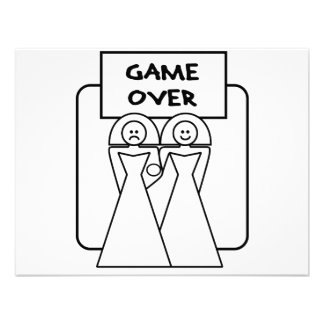 """Game Over"" Marriage (Homosexual) Custom Invitation"