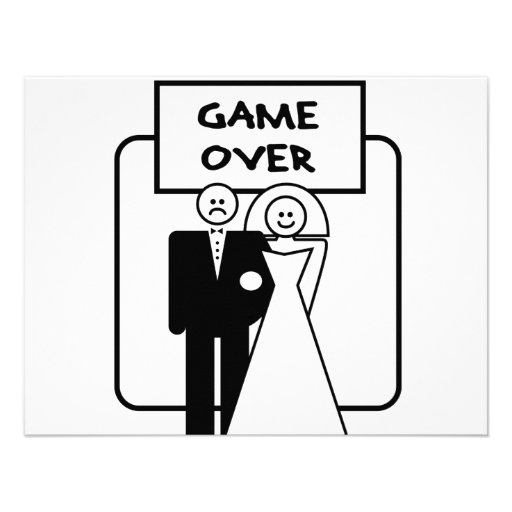"""""""Game Over"""" marriage Custom Announcement"""