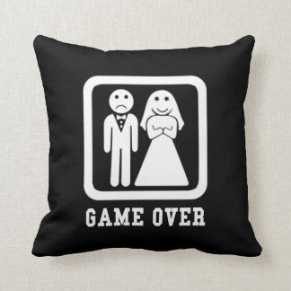 Game Over Marriage Just Married Cushions