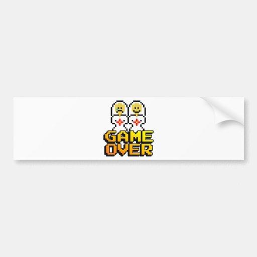 Game Over Marriage (Lesbian, 8-bit) Bumper Sticker