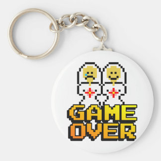 Game Over Marriage (Lesbian, 8-bit) Key Ring