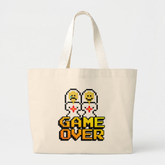 Game Over Marriage (Lesbian, 8-bit) Tote Bags