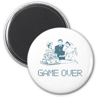 Game Over (Marriage) 6 Cm Round Magnet