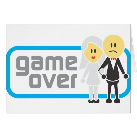 Game Over Marriage (Miis) Card