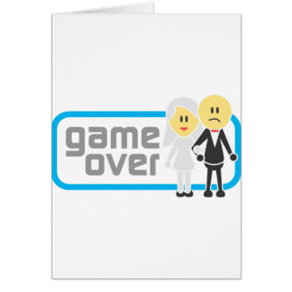 Game Over Marriage (Miis) Greeting Card