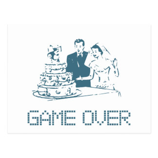 Game Over (Marriage) Postcard