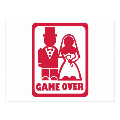 Game over - Marriage Post Cards