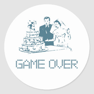 Game Over (Marriage) Round Sticker