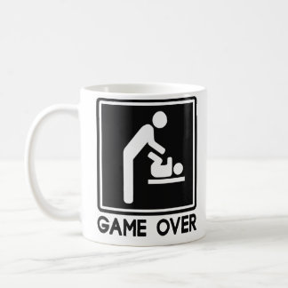 Game Over New Baby for Parent Dad Basic White Mug