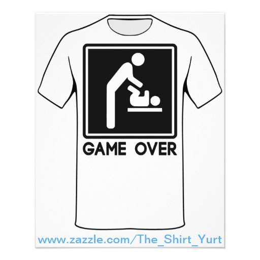 Game Over New Baby for Parent Dad Personalized Flyer