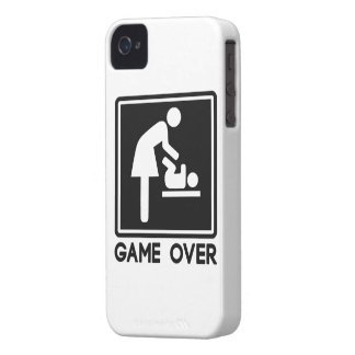 Game Over New Baby for Parent Mom iPhone 4 Cases