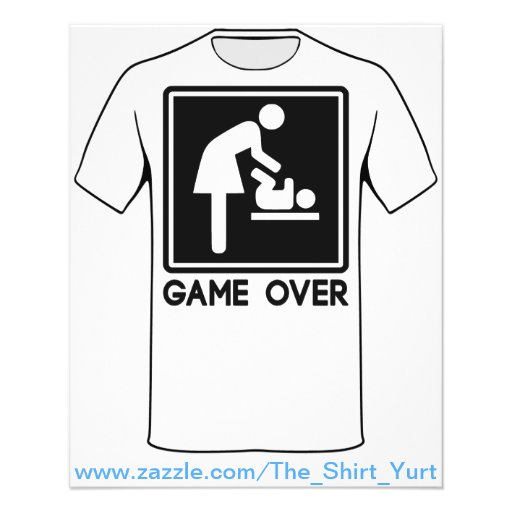 Game Over New Baby for Parent Mom Flyer