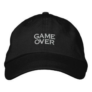 GAME OVER, PC GAME PLAYER CAP EMBROIDERED BASEBALL CAPS